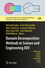 Domain Decomposition Methods in Science and Engineering XXV
