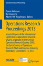 Operations Research Proceedings 2013 - Selected Papers of the International Conference on Operations Research, OR2013, organized by the German Operations Research Society (GOR), the Dutch Society of Operations Research (NGB) and Erasmus University Ro
