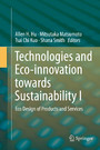 Technologies and Eco-innovation towards Sustainability I - Eco Design of Products and Services