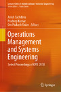Operations Management and Systems Engineering - Select Proceedings of CPIE 2018