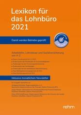 Lexikon für das Lohnbüro 2021 (E-Book PDF) - Arbeitslohn ...