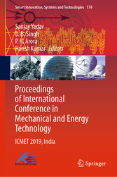 Proceedings of International Conference in Mechanical and Energy Technology - ICMET 2019, India